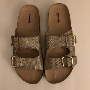 🆕 Sonoma Goods For Life Gold Sandals